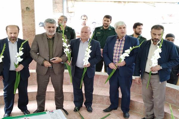 آيين غبار روبي و عطر افشاني مزار شهداي گمنام شهرستان دماوند