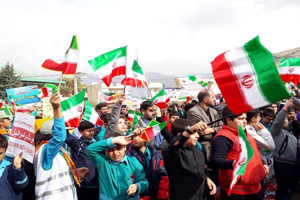 راهپیمایی 13 آبان در دماوند برگزار شد