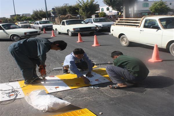 نصب سرعت گیر های جدید در نقاط اصلی شهر دماوند
